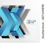 techno arrow background  vector ... | Shutterstock .eps vector #687144898