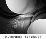 glowing wave created with... | Shutterstock . vector #687150739