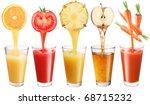 conceptual image   fresh juice... | Shutterstock . vector #68715232