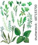 summer grass raster... | Shutterstock . vector #687153700