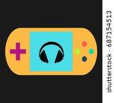 headphone simple vector icon....