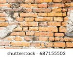 old bricks wall for background | Shutterstock . vector #687155503