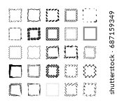 square shapes hand sketched... | Shutterstock .eps vector #687159349