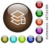 locked layers white icons on...   Shutterstock .eps vector #687161380