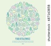 food intolerance concept in... | Shutterstock .eps vector #687163858
