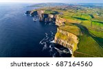 aerial view of cliffs of moher  ...   Shutterstock . vector #687164560