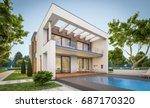 3d rendering of modern cozy... | Shutterstock . vector #687170320