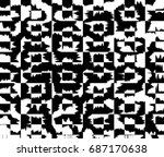 grunge background of black and... | Shutterstock . vector #687170638