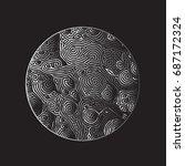 moon vector illustration on...