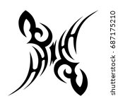 tribal tattoo art designs.... | Shutterstock .eps vector #687175210