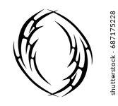tribal tattoo art designs.... | Shutterstock .eps vector #687175228