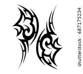 tribal tattoo art designs.... | Shutterstock .eps vector #687175234