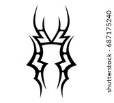 tattoo tribal vector design.... | Shutterstock .eps vector #687175240