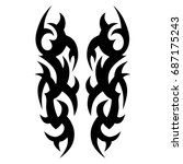 tattoo tribal vector design.... | Shutterstock .eps vector #687175243