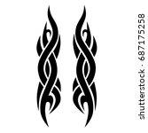 tattoo tribal vector design on... | Shutterstock .eps vector #687175258