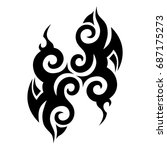 tattoo tribal vector design.... | Shutterstock .eps vector #687175273