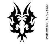 tribal tattoo art designs.... | Shutterstock .eps vector #687175330