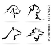 dog set  on a white background. ... | Shutterstock .eps vector #687176824