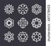 flower logo design elements in... | Shutterstock .eps vector #687178423