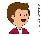 young man model avatar character | Shutterstock .eps vector #687179308