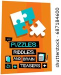 puzzles  riddles  and brain...   Shutterstock .eps vector #687184600