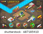 export trade logistics... | Shutterstock .eps vector #687185410