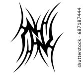 tribal tattoo art designs.... | Shutterstock .eps vector #687187444