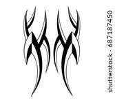 tribal tattoo art designs.... | Shutterstock .eps vector #687187450