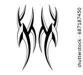tattoo tribal vector designs.  | Shutterstock .eps vector #687187450