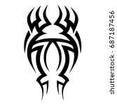 tattoo tribal vector design.... | Shutterstock .eps vector #687187456