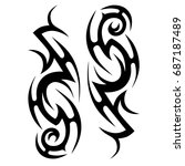tattoo tribal vector design.... | Shutterstock .eps vector #687187489