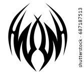 tattoo tribal vector design....   Shutterstock .eps vector #687187513