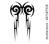 tattoo tribal vector design.... | Shutterstock .eps vector #687187528