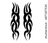 tribal tattoo art designs.... | Shutterstock .eps vector #687187534