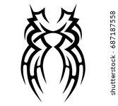 tattoo tribal vector design.... | Shutterstock .eps vector #687187558