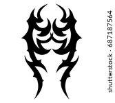 tribal tattoo art designs....   Shutterstock .eps vector #687187564