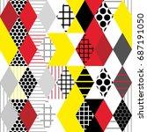 geometric elements memphis... | Shutterstock .eps vector #687191050