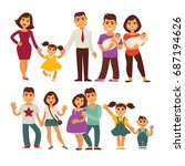 family mother  father and... | Shutterstock .eps vector #687194626