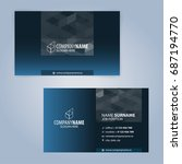 business card template. blue... | Shutterstock .eps vector #687194770