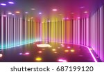 abstract entertainment space... | Shutterstock . vector #687199120