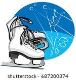 illustration of white female...   Shutterstock . vector #687200374