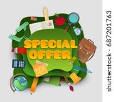 back to school special offer... | Shutterstock .eps vector #687201763