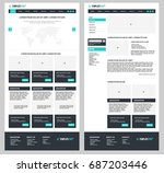 simple vector website template... | Shutterstock .eps vector #687203446