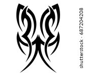 tribal tattoo art designs.... | Shutterstock .eps vector #687204208