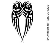 tribal pattern tattoo vector... | Shutterstock .eps vector #687204229