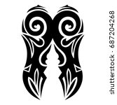 tribal tattoo art designs.... | Shutterstock .eps vector #687204268