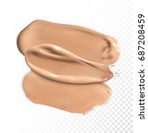 cosmetic concealer smear... | Shutterstock .eps vector #687208459