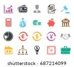 finance icons   Shutterstock .eps vector #687214099