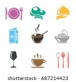 restaurant icons | Shutterstock .eps vector #687214423