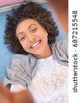 portrait beautiful young...   Shutterstock . vector #687215548